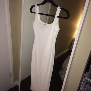 Naked Wardrobe white mesh dress